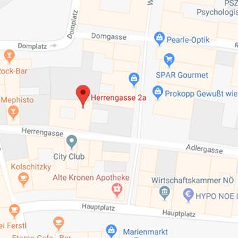 Google Maps Karte von Herrengasse 2a, Wr. Neutstadt