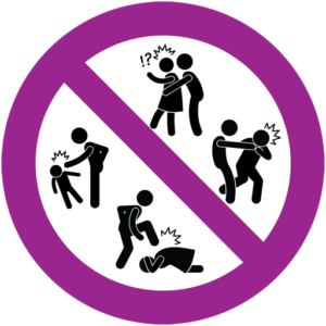 Piktogramm gegen Gewalt